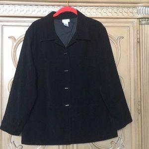 Fashion bug black jacket w/metal side buttons s16